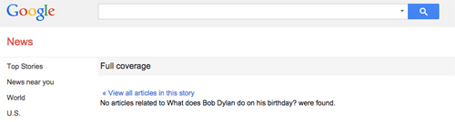 What Does Bob Dylan Do On His Birthday?